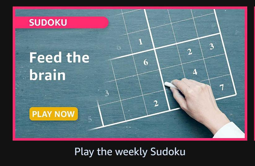 Read more about the article Solve this sudoku amazon quiz