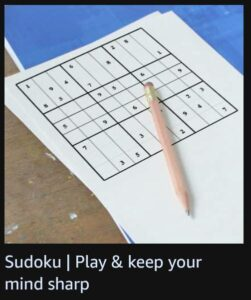 Read more about the article Sudoku | Play & Keep your mind sharp | Amazon Quiz Answers