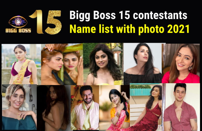 You are currently viewing बिग बॉस 15  में आ रहे हैं इस बार   Bigg Boss 15 contestants name list with photo 2021  Bigg Boss 15 contestants name and their biography   Bigg Boss 15 contestants pic