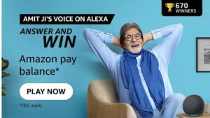 Read more about the article Who became popular as the Angry young man of Bollywood   Amazon Quiz Answers : Chance to win Amazon Pay Balance 149