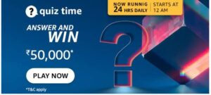 Read more about the article Amazon Quiz Answers Today 10 September 2021 | Amazon Quiz Answers : Chance to win Amazon Pay Balance 50,000