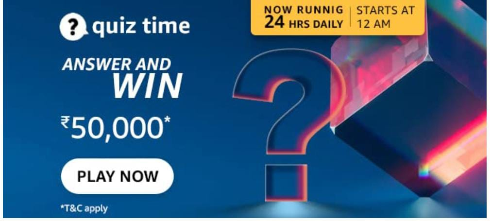 You are currently viewing Amazon Quiz Answers Today 10 September 2021   Amazon Quiz Answers : Chance to win Amazon Pay Balance 50,000