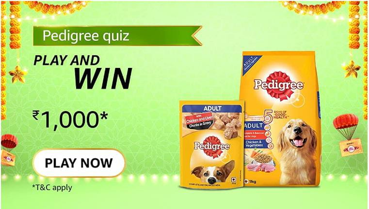 Read more about the article Which of these foods are toxic to dogs? | Amazon Quiz Answers Today 13 october 2021 | Amazon Quiz Answers : Chance to win Amazon Pay Balance 1,000