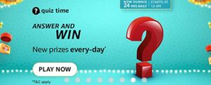 Read more about the article Amazon Quiz Answers Today 20 October 2021 | Tata Digital Ltd, a subsidiary of Tata Sons, has acquired a majority stake in which of these digital health companies? | Amazon Quiz Answers : Chance to win Amazon Pay Balance 1,000